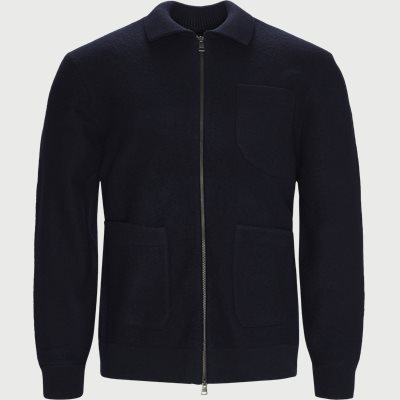 Boiled Knitted Jacket Regular | Boiled Knitted Jacket | Blå