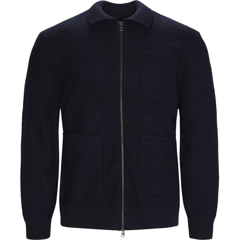 Gant - 8040074 boiled knitted jacket jakker fra gant fra kaufmann.dk