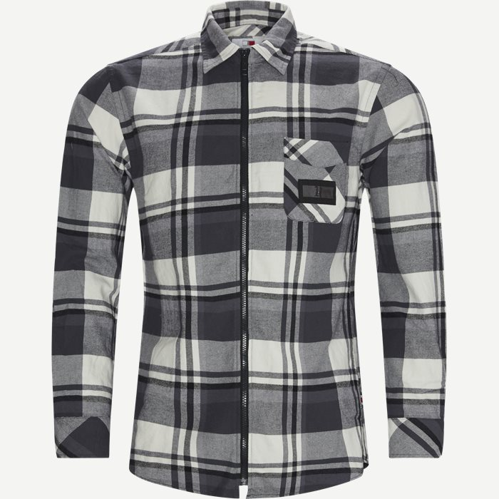 LH Check Flannel Shirt - Skjorter - Oversized - Sort