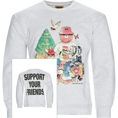 SMILEY FRIENDS CREWNECK Sweatshirt Regular | SMILEY FRIENDS CREWNECK Sweatshirt | Grå