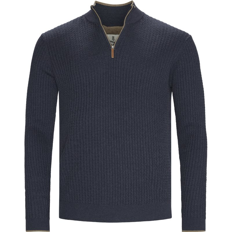 hansen & jacob – Hansen & jacob - half-zip mini cable knit fra kaufmann.dk