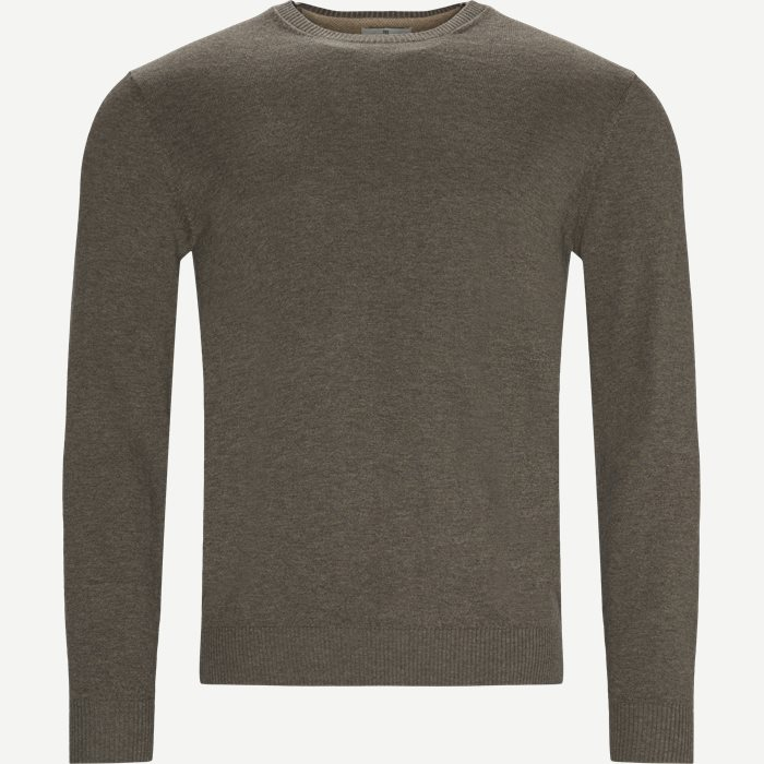 Crewneck Sweater - Strik - Regular - Sand