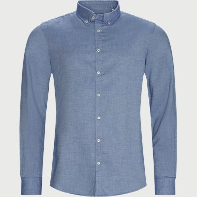 Brushed Twill Shirt Casual fit | Brushed Twill Shirt | Blå