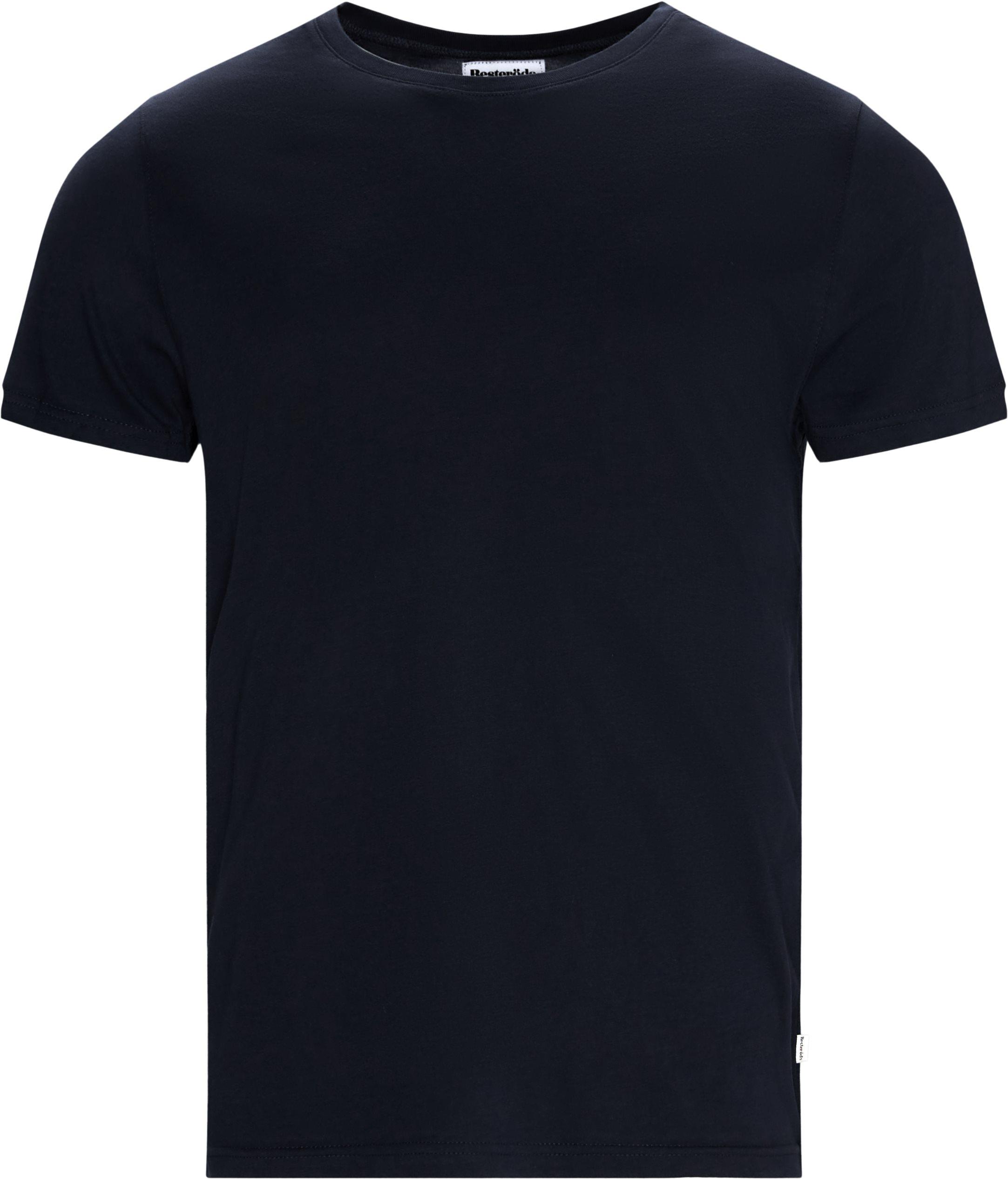O-Neck Tee - T-shirts - Regular - Blå