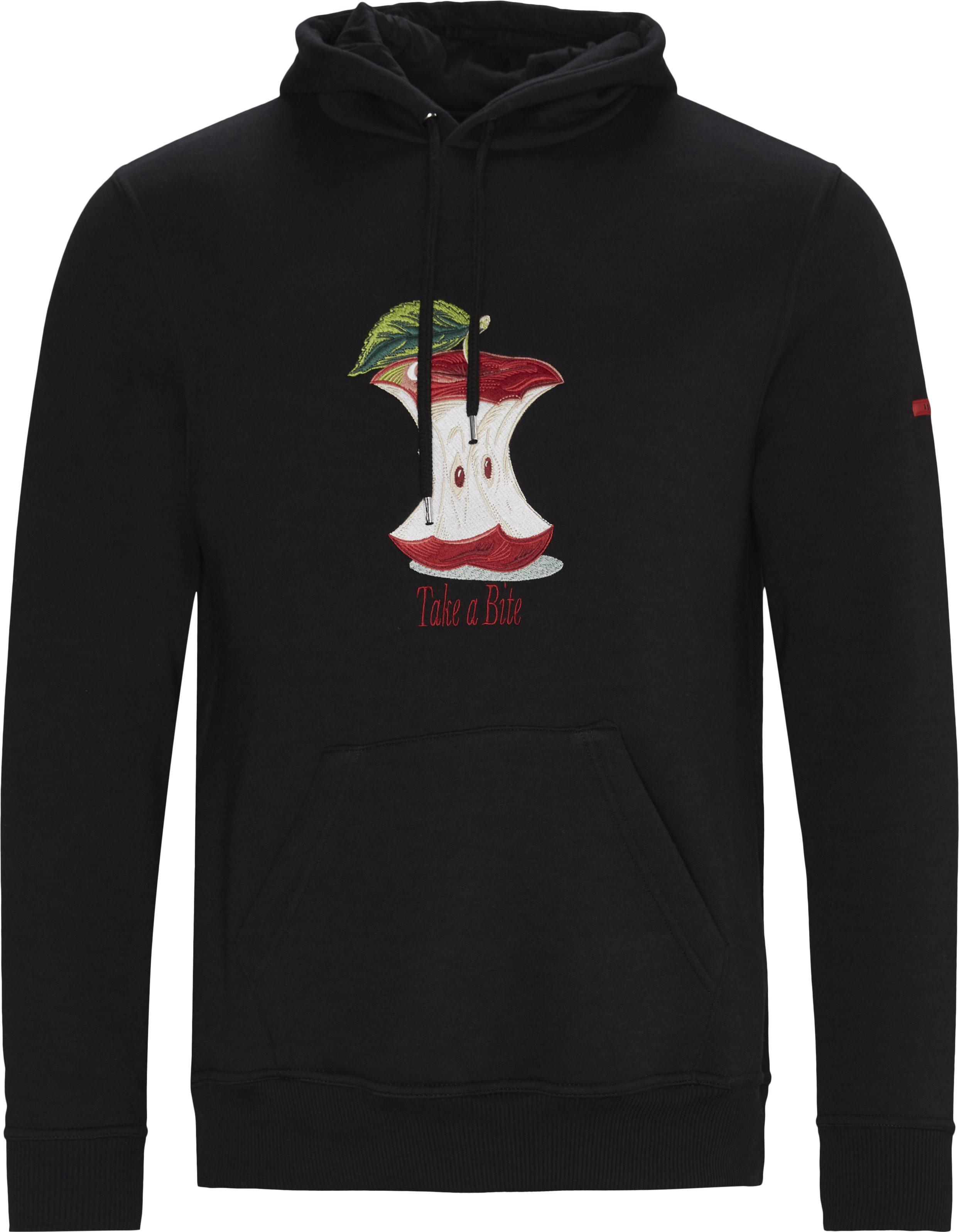 Apple Hoodie - Sweatshirts - Sort