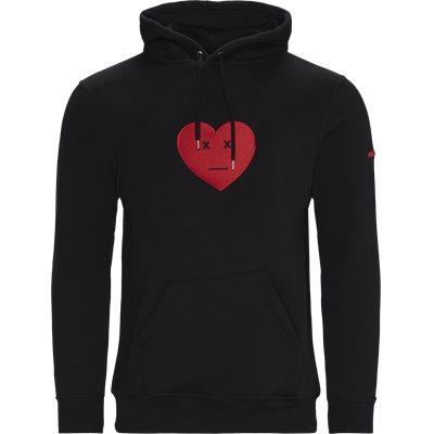Heart Hoodie Regular | Heart Hoodie | Sort