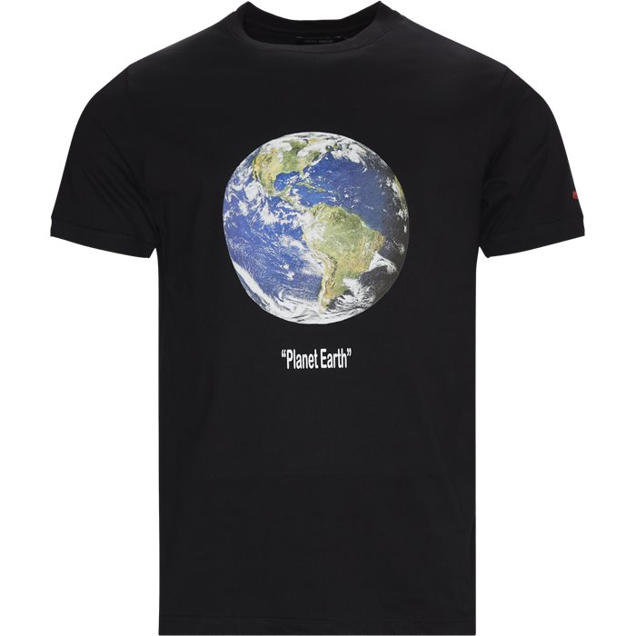 Planet Tee - T-shirts - Regular - Svart