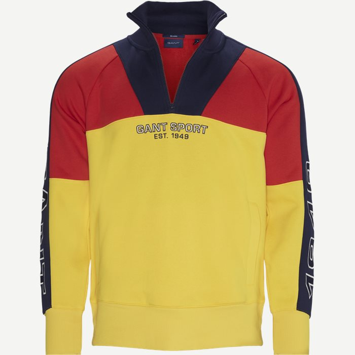 Sport Half Zip Sweatshirt - Sweatshirts - Relaxed fit - Yellow