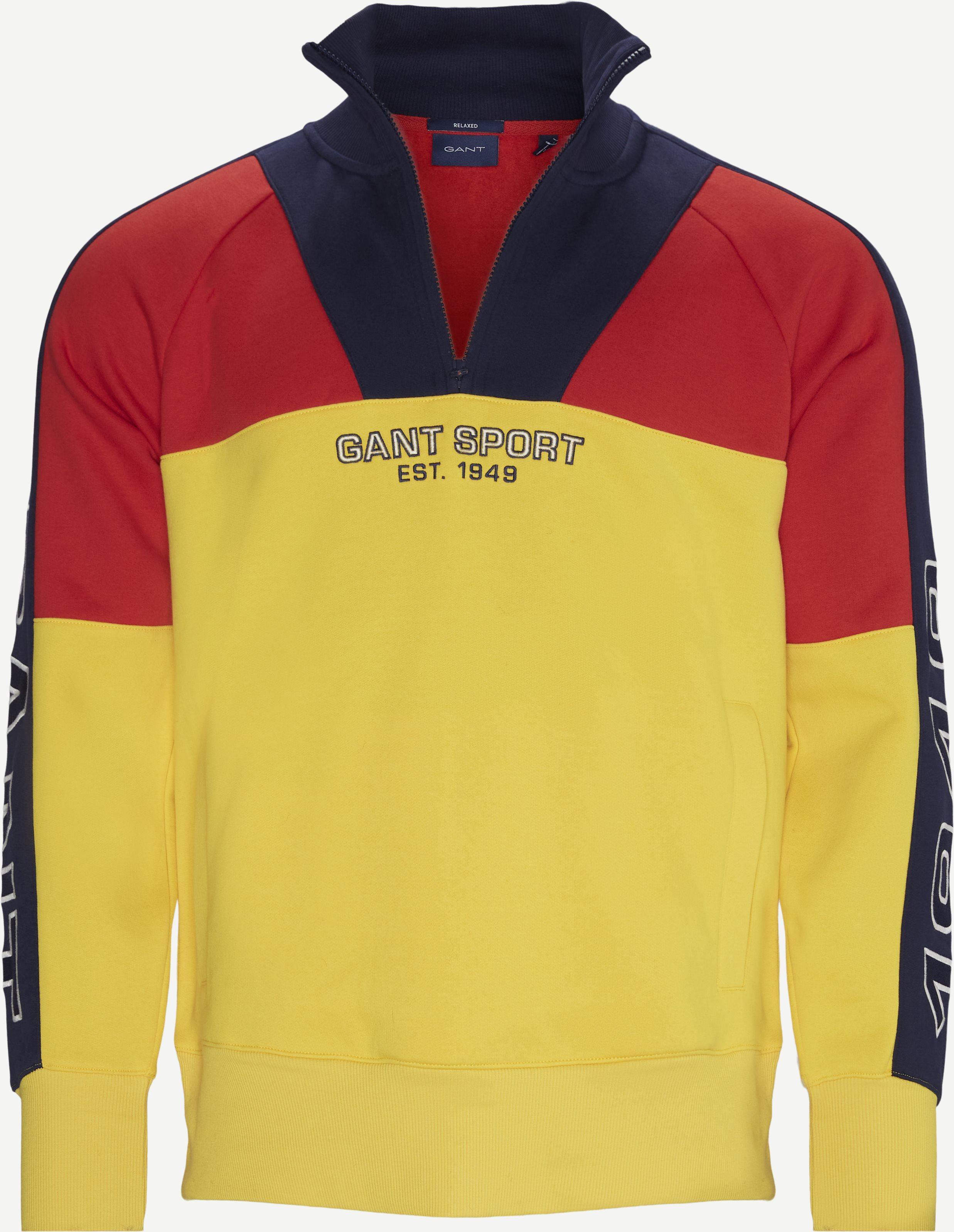 Sport Half Zip Sweatshirt - Sweatshirts - Relaxed fit - Gul