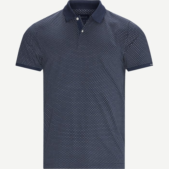 Mini Jacquard Polo T-shirt - T-shirts - Regular - Denim