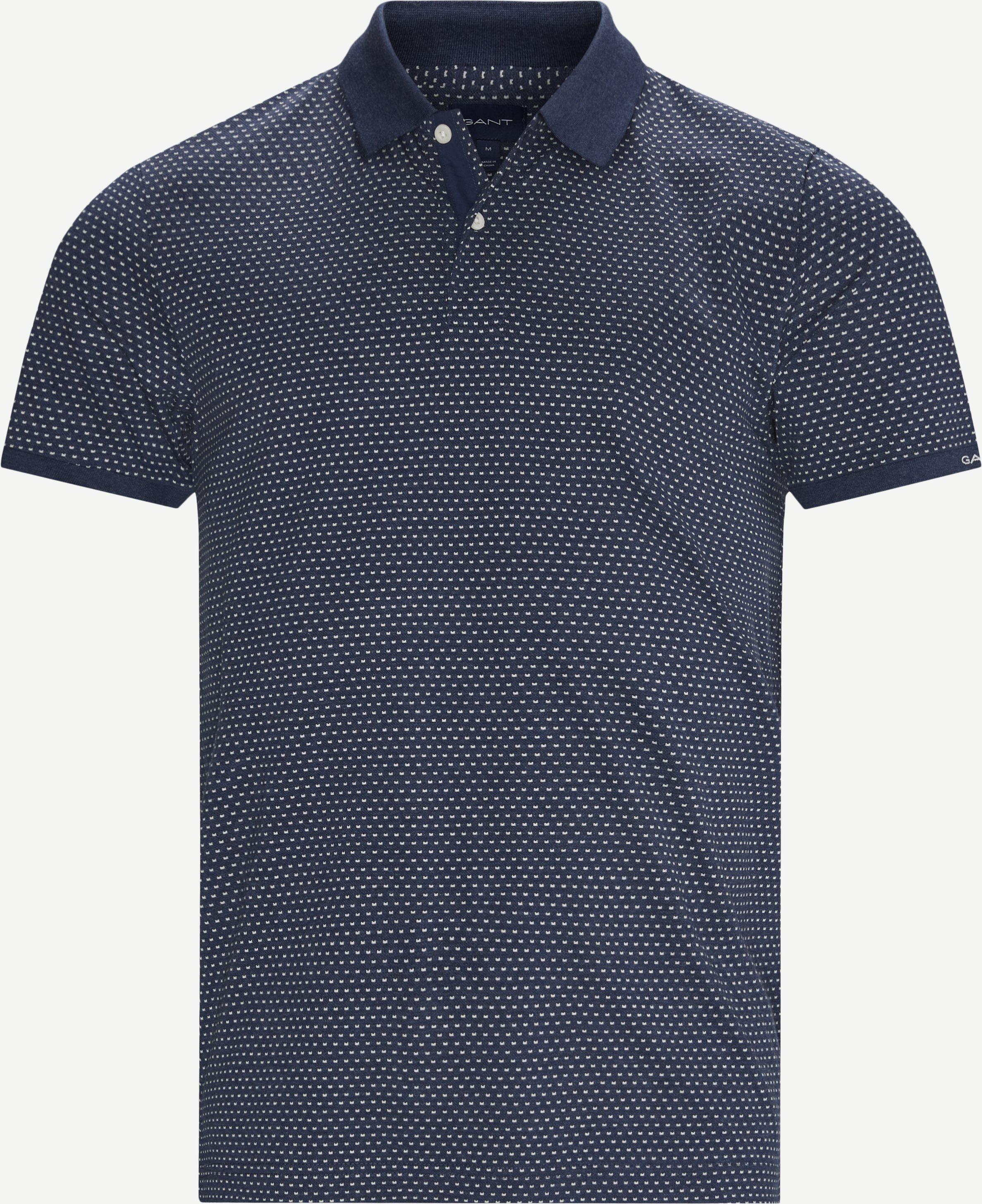 Mini Jacquard Polo T-shirt - T-shirts - Regular - Denim