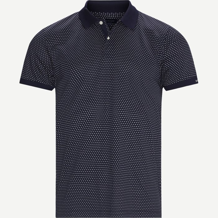 Mini Jacquard Polo T-shirt - T-shirts - Regular - Blå