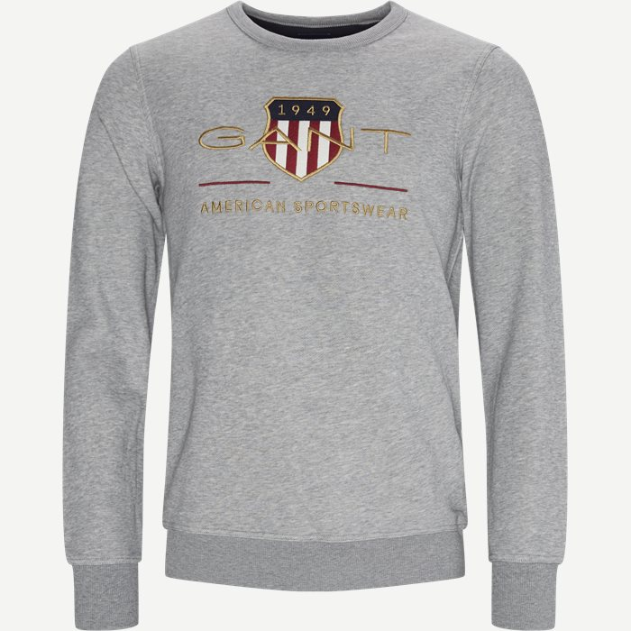 Archive Shield Logo Crewneck sweatshirt - Sweatshirts - Regular - Grå
