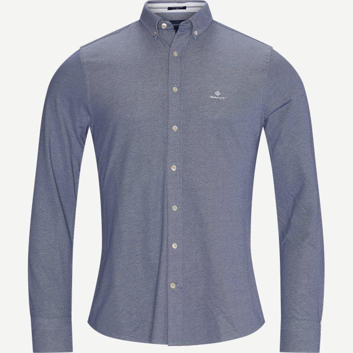 TP Pique Solid Slim Shirt - Skjorter - Slim - Blå