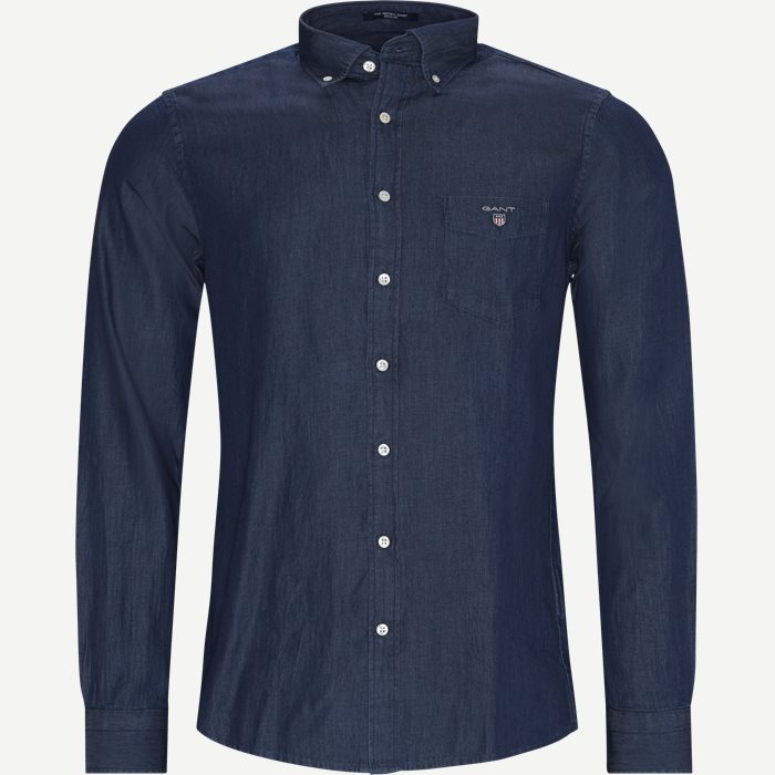 Indigo Reg BD Shirt - Skjorter - Regular - Denim