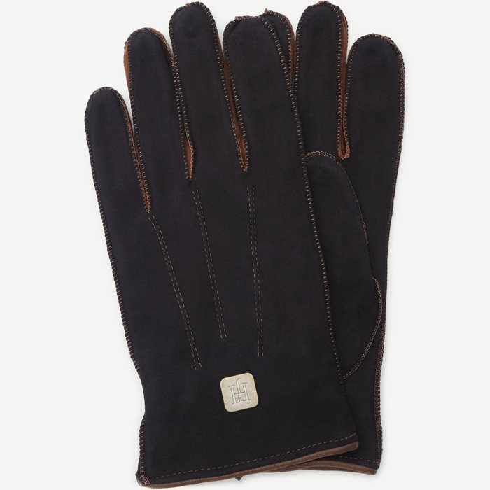 Suede Gloves - Gloves - Blue