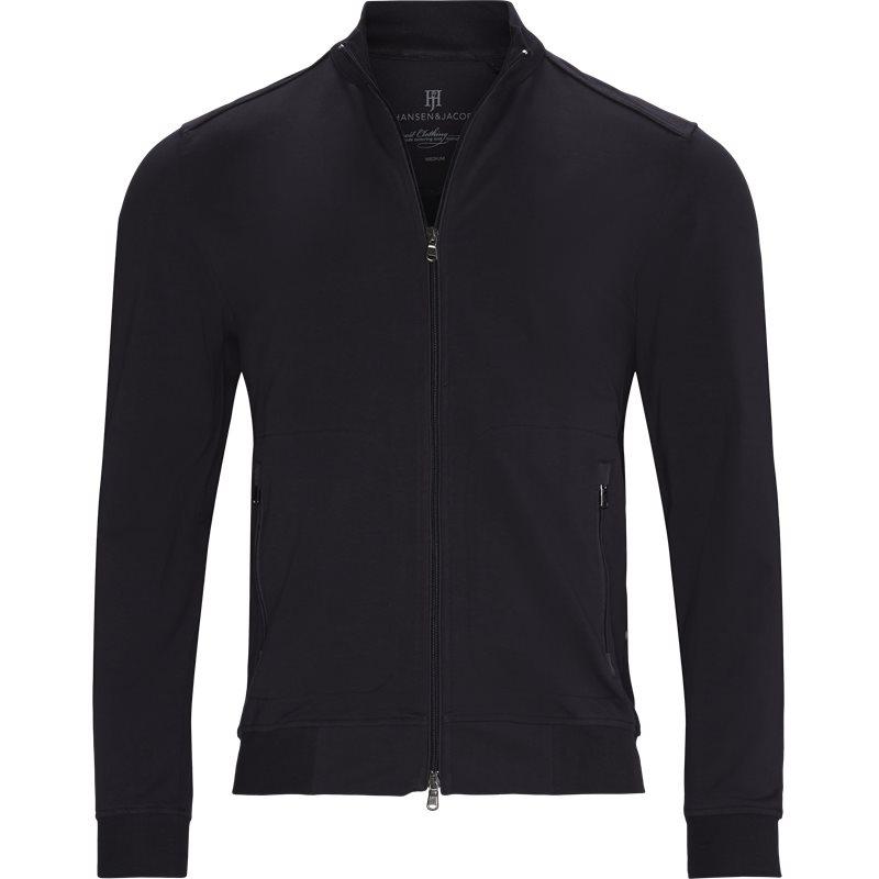 Hansen & jacob - 06254 jersey melange jacket sweatshirts fra hansen & jacob på kaufmann.dk