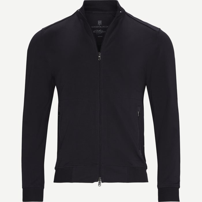 Jersey Melange Jacket - Sweatshirts - Regular - Blå
