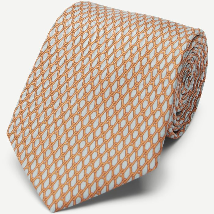 A Chains Tie 7,5 cm - Ties - Grey