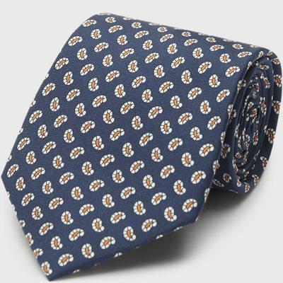 Printed Counselor Tie 8 cm Printed Counselor Tie 8 cm | Blue
