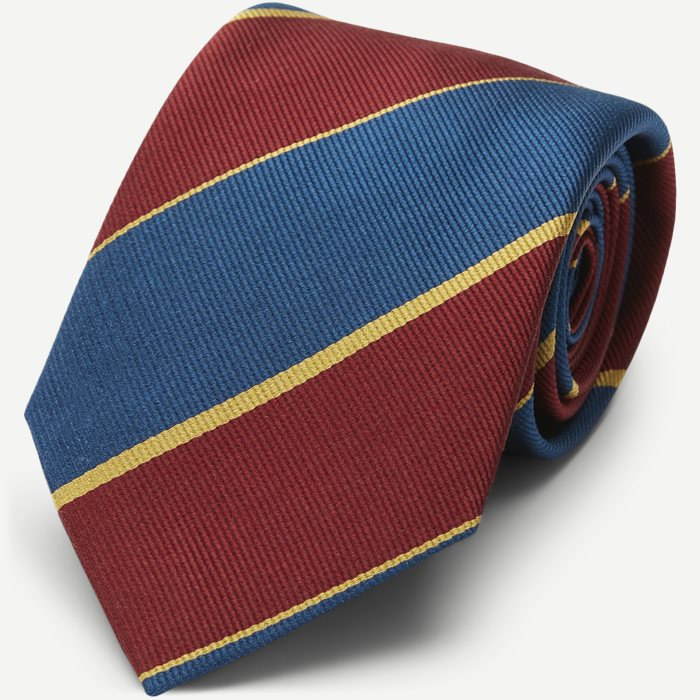 Oversized Paisley Tie 7,5 cm  - Ties - Bordeaux