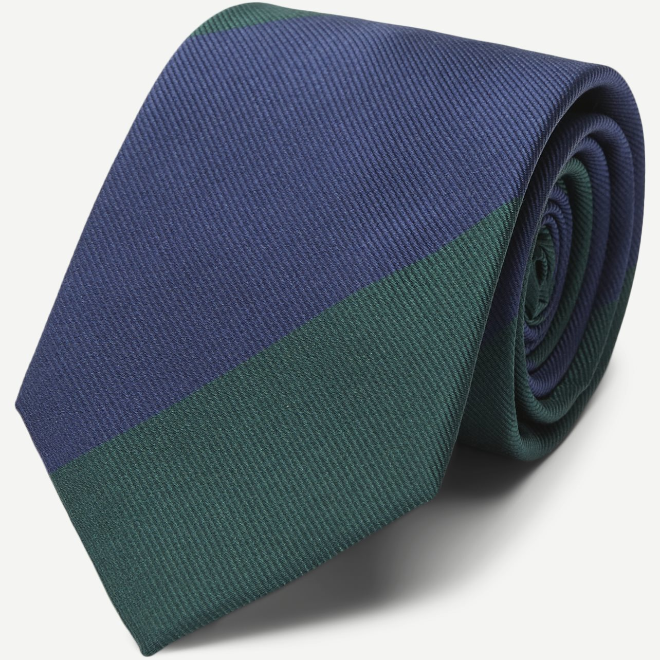 Block Silk Tie 7,5 cm - Ties - Green