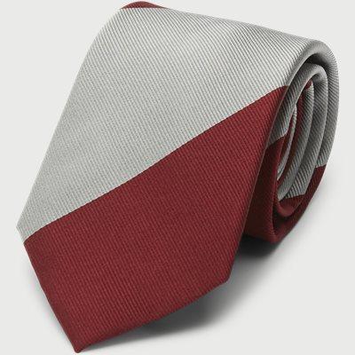Block Silk Tie 7,5 cm Block Silk Tie 7,5 cm | Grå