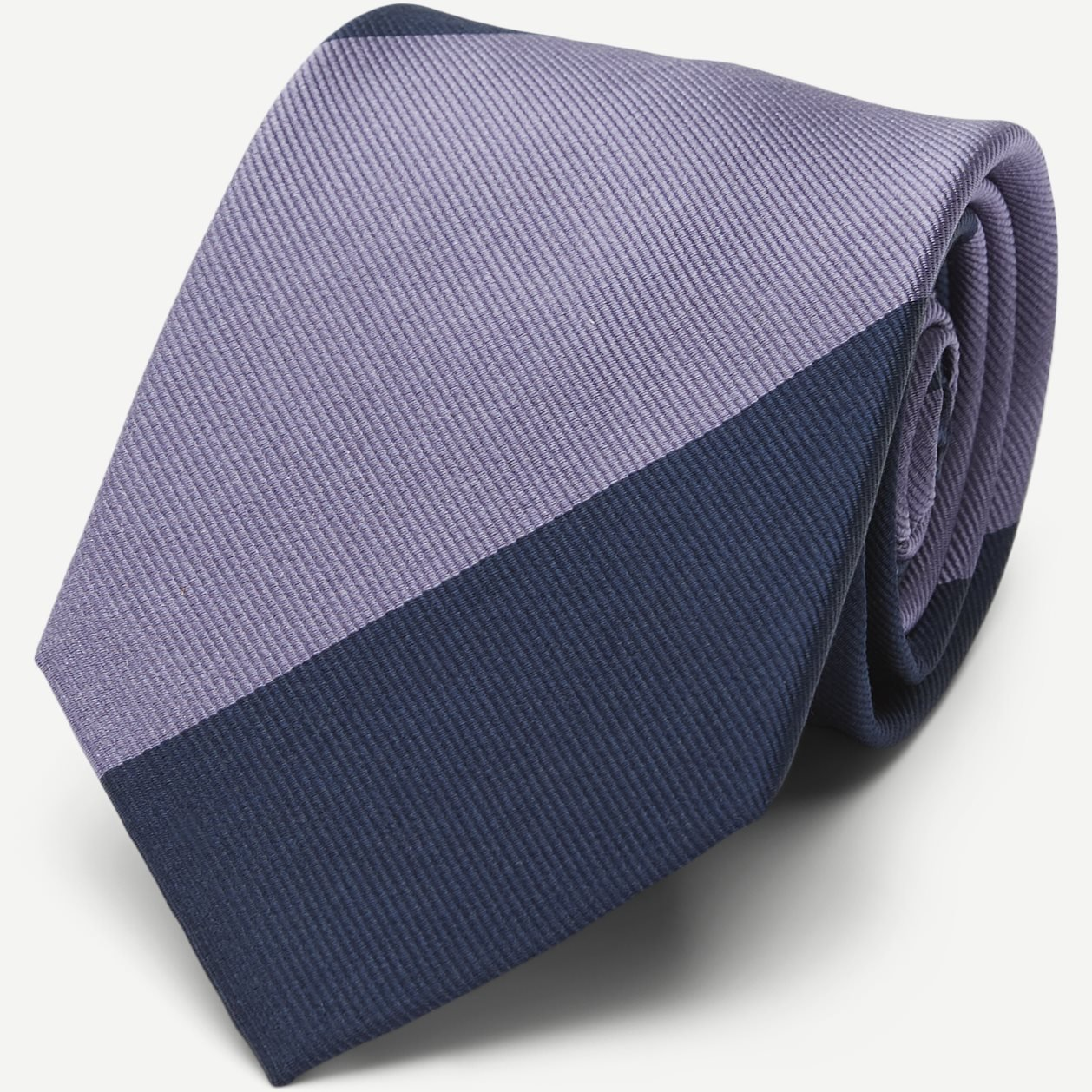 Block Silk Tie 7,5 cm - Ties - Blue