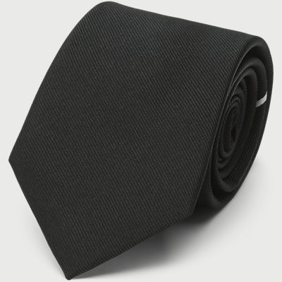 The Black Draper Tie 7,5 cm The Black Draper Tie 7,5 cm | Sort