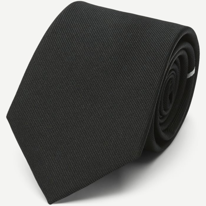 The Black Draper Tie 7,5 cm - Ties - Black