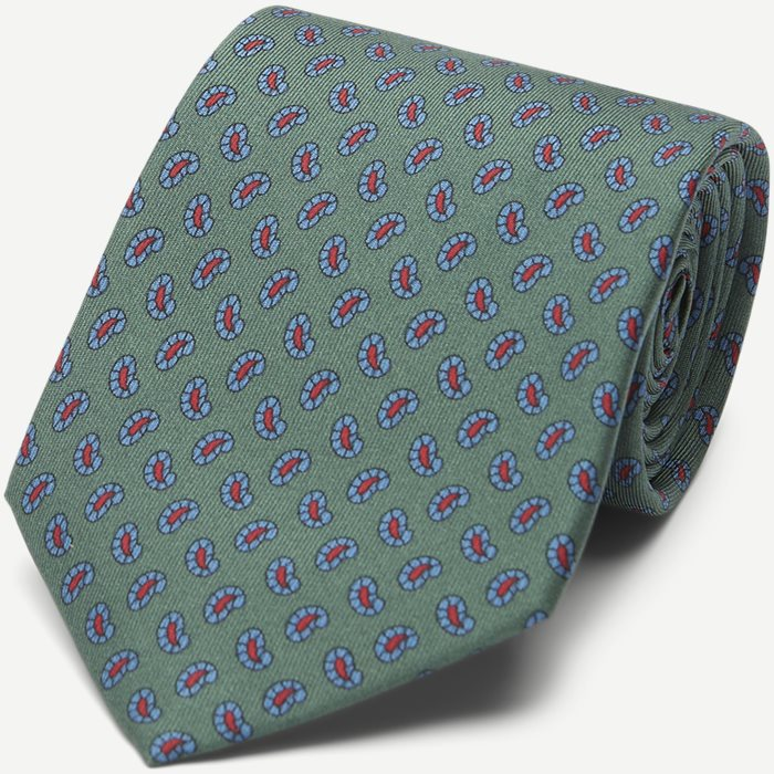 The Green Printed Counselor Tie 8 cm - Ties - Green