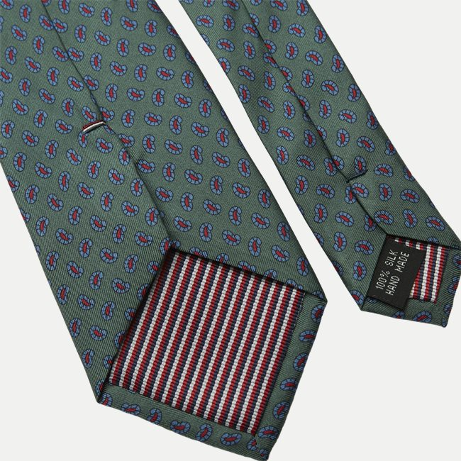 The Green Printed Counselor Tie 8 cm