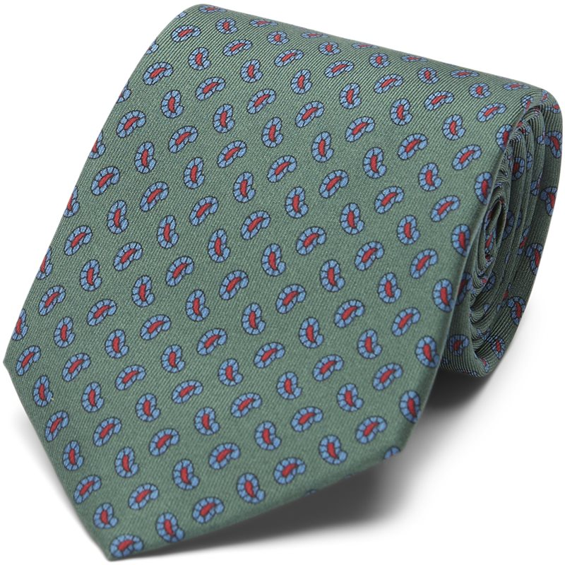 An Ivy - The Green Printed Counselor Tie 8 cm