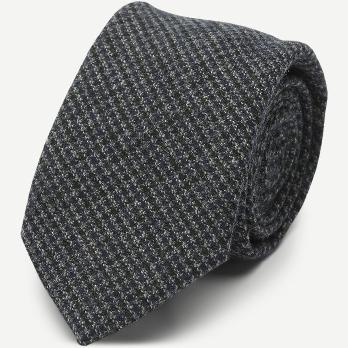 Houndstooth Wool Tie 7,5 cm - Slipsar - Multi