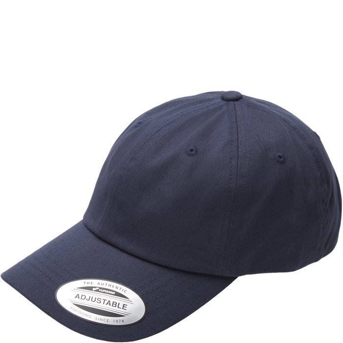 Low Profile Cotton Twill Cap - Kepsar - Blå