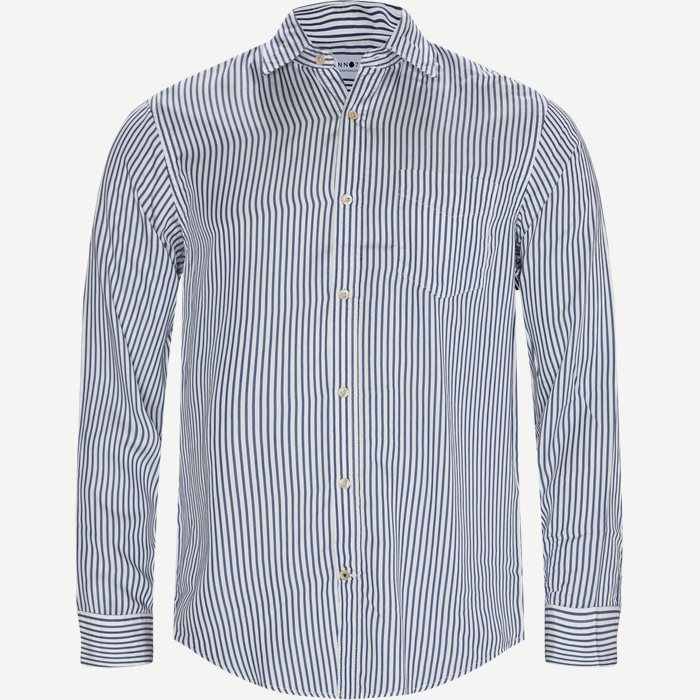 Errico Pocket Shirt - Skjortor - Regular - Blå