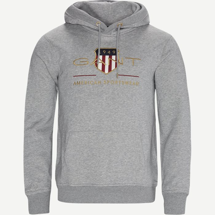 Archive Shield Hoodie - Sweatshirts - Regular - Grå