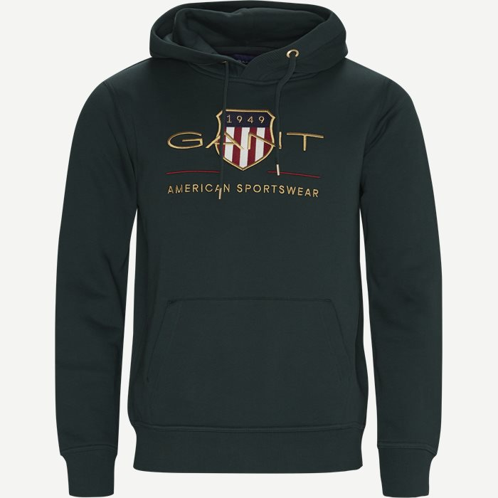 Archive Shield Hoodie - Sweatshirts - Regular - Grøn