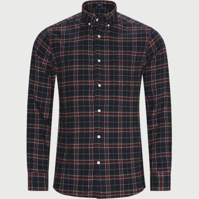 Flannel Check Skjorte Regular | Flannel Check Skjorte | Rød
