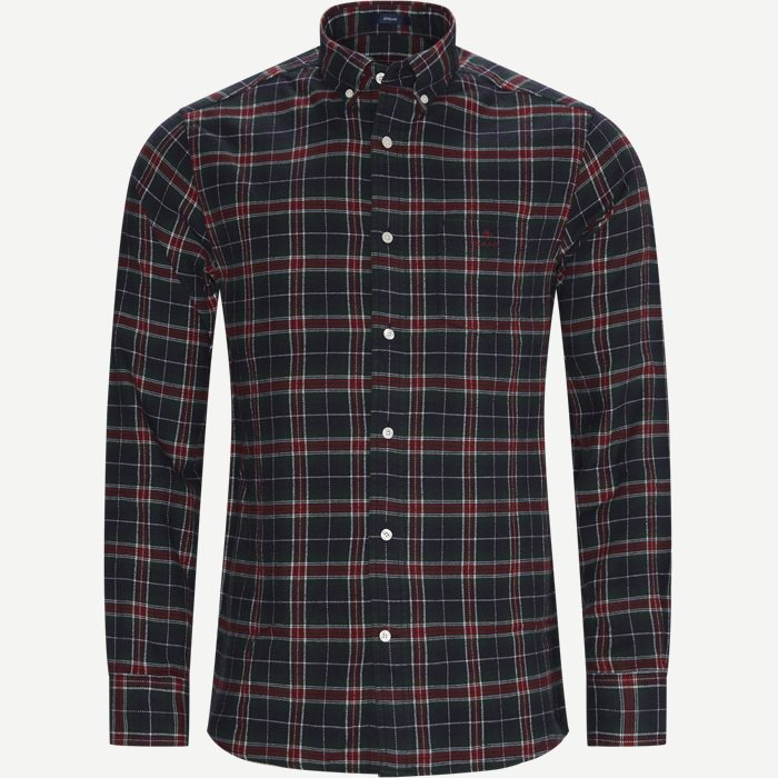 Flannel Check Skjorte - Skjorter - Regular - Rød