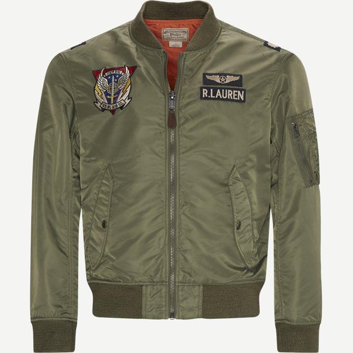 Twill Bomber Jacket - Jakker - Regular - Grøn