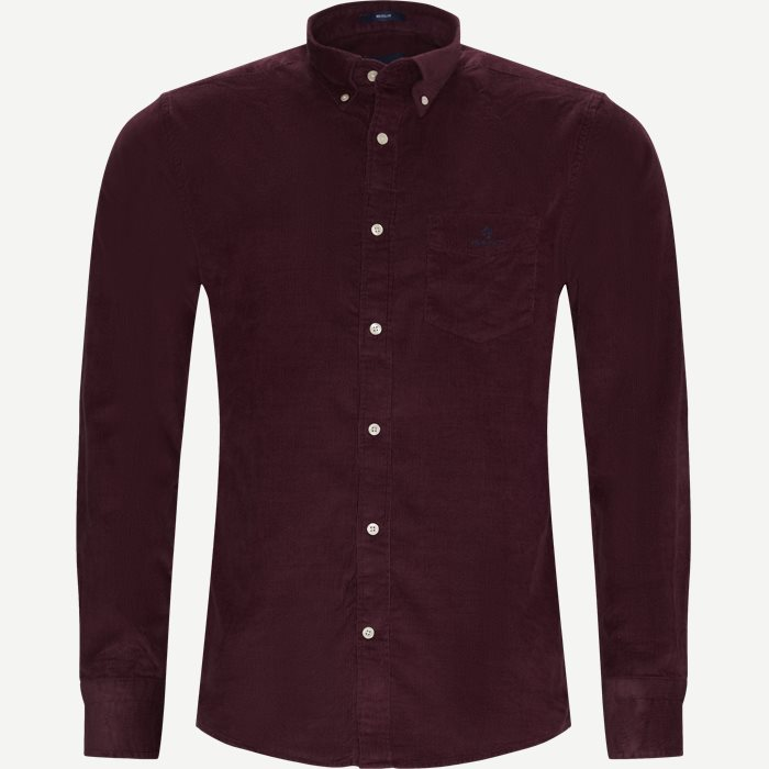 Corduroy Shirt - Skjortor - Regular - Bordeaux