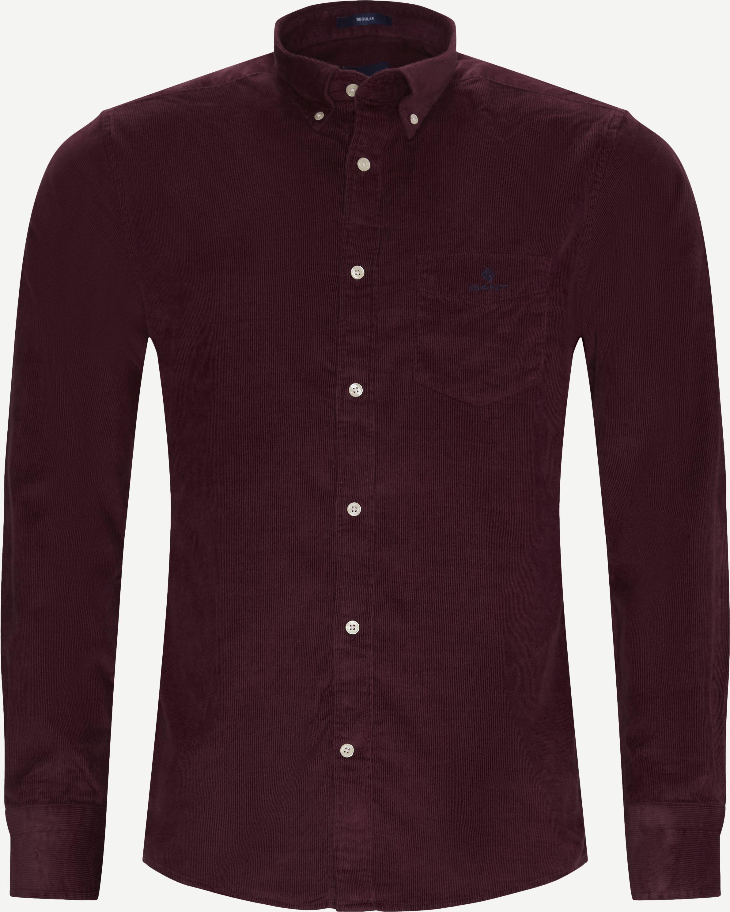 Corduroy Shirt - Skjortor - Regular - Bordeaux