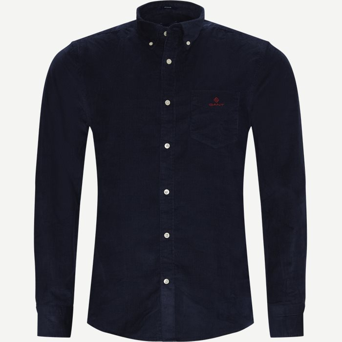 Corduroy Shirt - Shirts - Regular - Blue