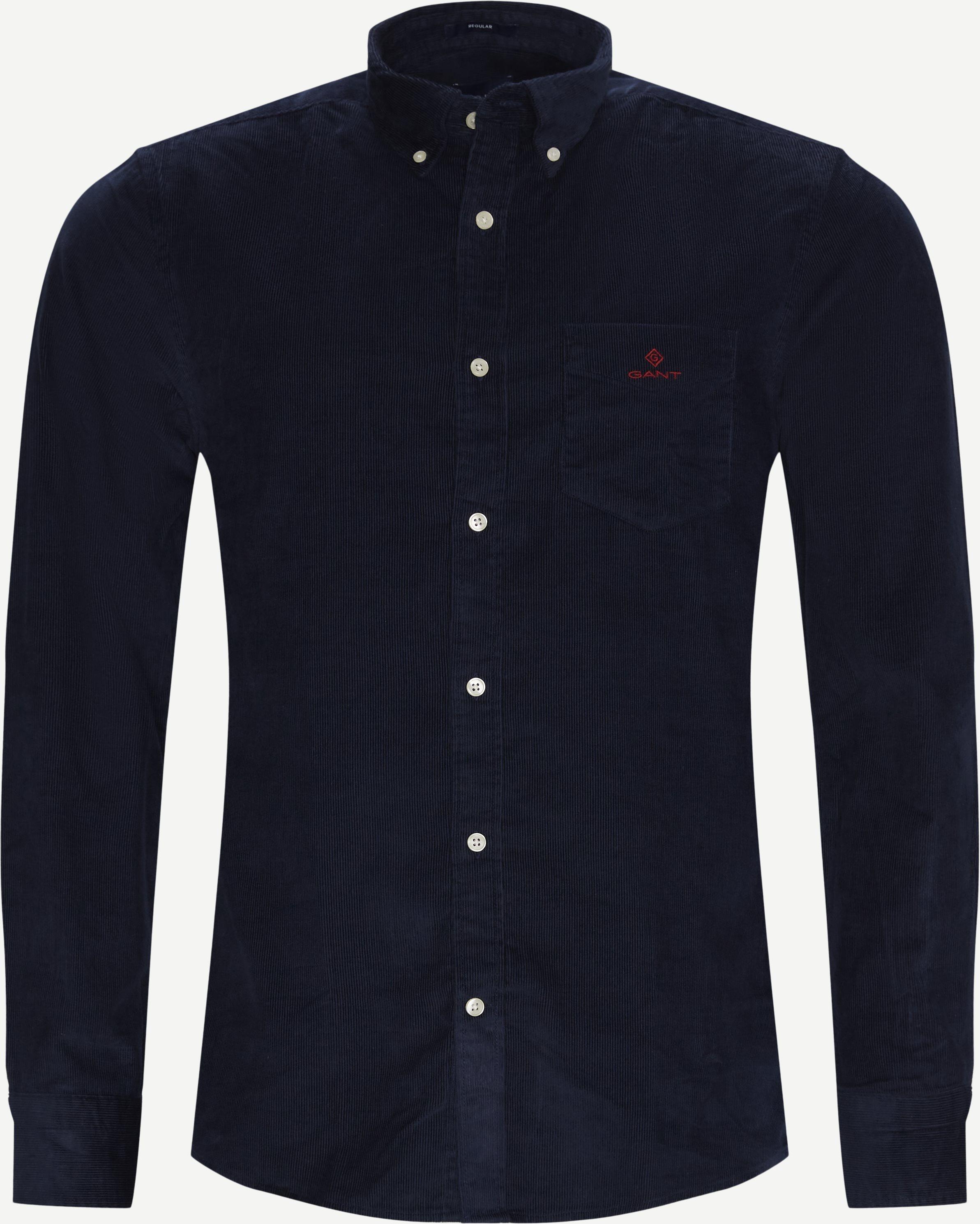 Corduroy Shirt - Skjortor - Regular - Blå