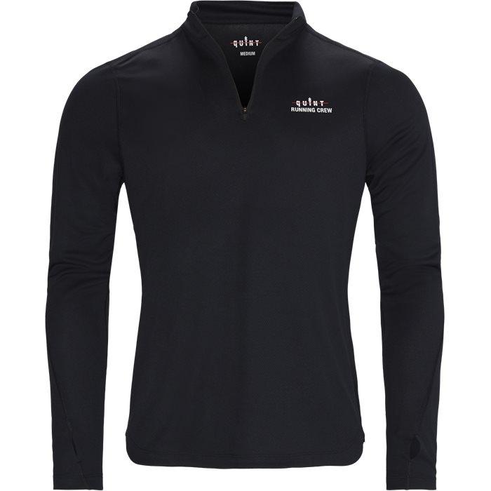 Quint Running Crew Tab LS Tee - T-shirts - Regular - Svart