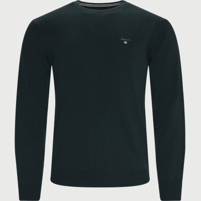 Superfine Lambswool Crew Neck Striktrøje Regular | Superfine Lambswool Crew Neck Striktrøje | Grøn