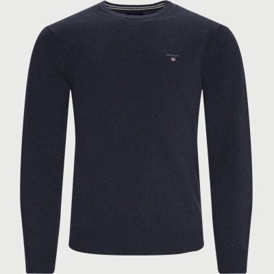 Superfine Lambswool Crew Neck Striktrøje Regular | Superfine Lambswool Crew Neck Striktrøje | Blå