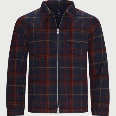 Wool Blend Overshirt Regular | Wool Blend Overshirt | Blå