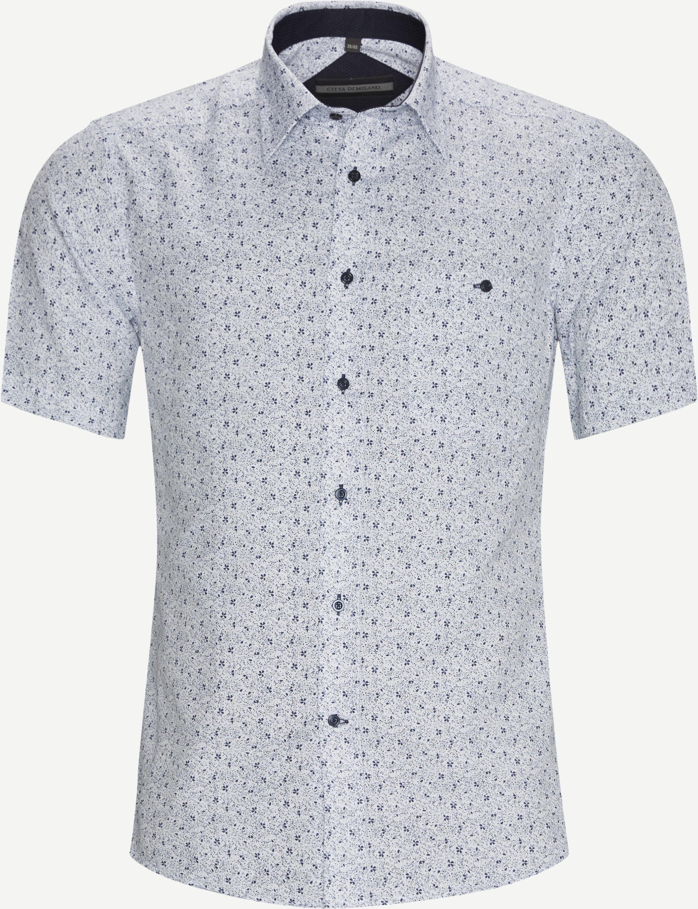 Basel K/Æ Skjorte - Short-sleeved shirts - Regular fit - White